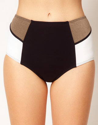 Baku Colour Block High Waisted Bikini Pant