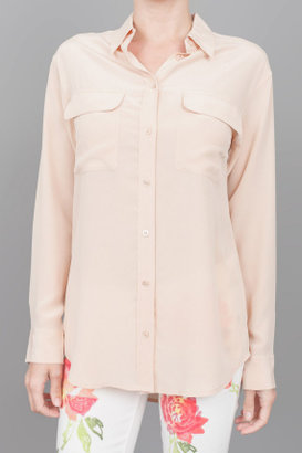 Equipment Signature Button Down Nude
