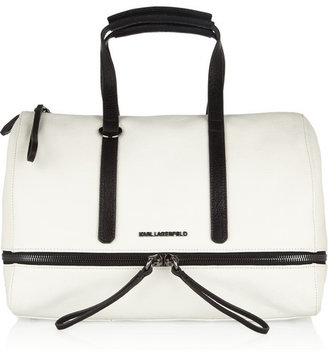 Karl Lagerfeld Textured-leather bowling bag