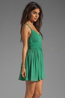 BB Dakota Edie Gathered Crinkle Chiffon Dress