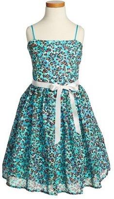 Un Deux Trois Floral Chiffon Dress (Big Girls)