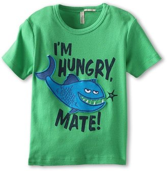 Benetton Kids - Boys' I'm Hungry, Mate! Screen Tee (Toddler) (Kelly Green) - Apparel