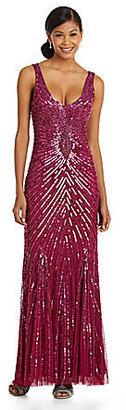 Aidan Mattox Deco Sequin Gown