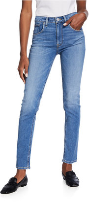 Hudson Collin High-Rise Flap-Pocket Skinny Jeans