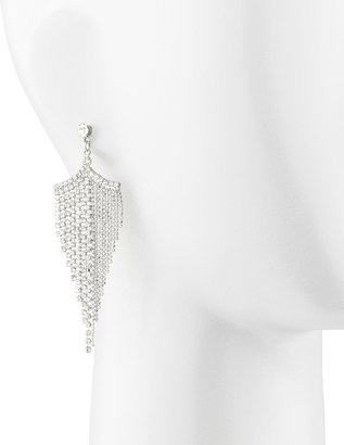 A.V. Max Silvertone Rhinestone Chandelier Earrings