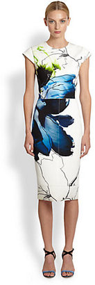 Reed Krakoff Floral Collage Scuba Jersey Dress