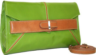 Nino Bossi Convertible Clutch with Front Belting Detail