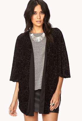 Forever 21 Luxe Velveteen Kimono