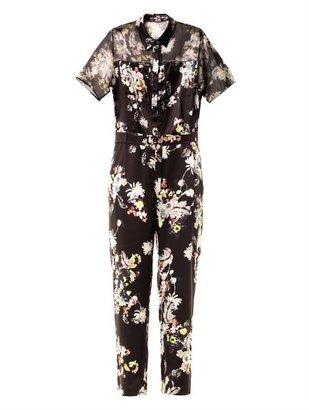 Erdem Vala Eames Garden-print silk jumpsuit