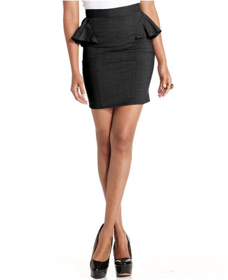 Rampage Juniors Skirt, Peplum Pencil