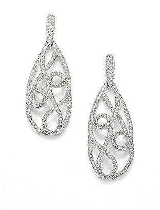 Adriana Orsini Celestial Pavé Crystal Swirl Teardrop Earrings/Silvertone