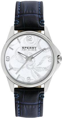 Sperry Watch, Women's Kinney Navy Blue Leather Strap 38mm 102052
