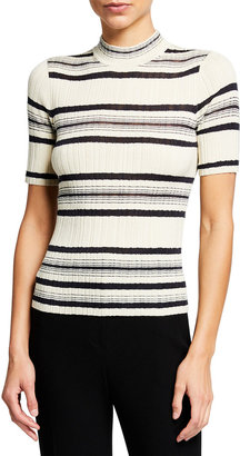 Theory Striped Rib Sweater