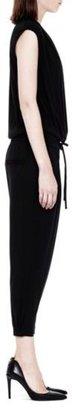 Helmut Lang Feather Jersey Cap Sleeve Jumpsuit