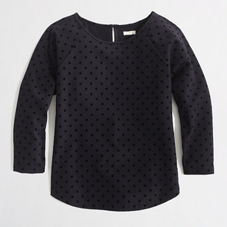 J.Crew Factory Factory dotted ponte top