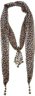Wallis Animal Chiffon Scarf Necklace