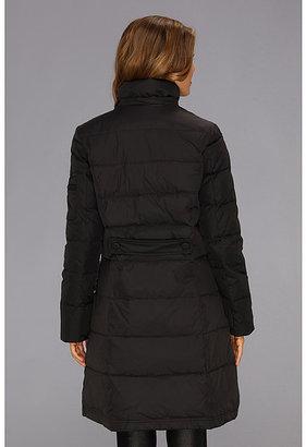 DKNY Three Quarter Faux Fur Hood Jacket