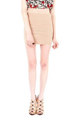 Torn By Ronny Kobo Ribbed Knit Skirt