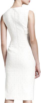 Stella McCartney Double-Fold Jacquard Sheath Dress