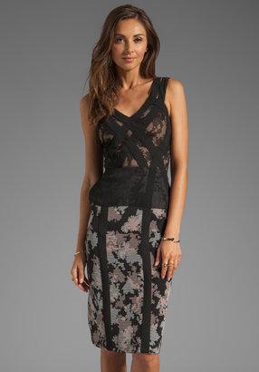 BCBGMAXAZRIA Runway Floral Dress