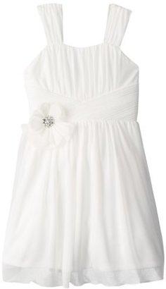 Amy Byer Big Girls' Pleated Waist Dress with Flower