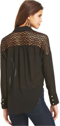 XOXO Drape-Front High-Low Top