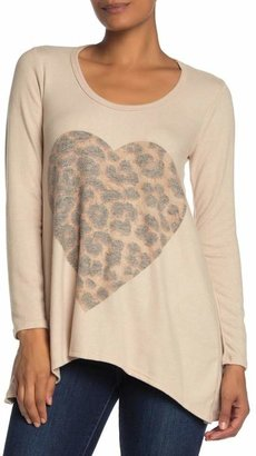 Couture Go Long Sleeve Handkerchief Tunic Sweater