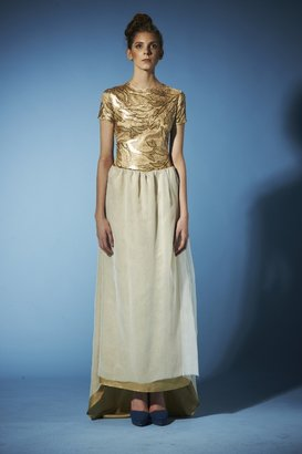 Carnet de Mode DRESS - D26 - cream & gold