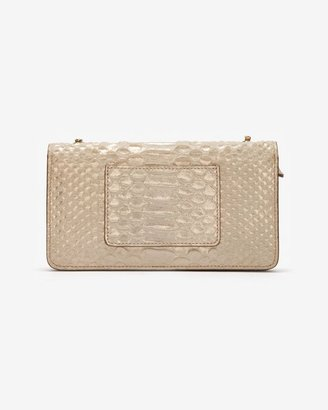 Mulberry Bayswater Metallic Snake Print Wallet Clutch