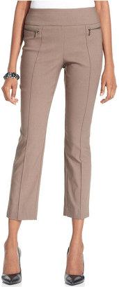 Style&Co. Pants, Slim-Fit Pull-On Capri