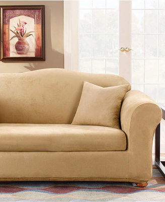 Sure Fit Stretch Faux Suede 2-Piece Sofa Slipcover