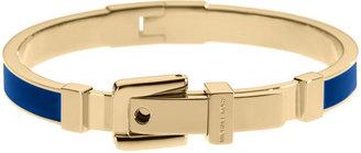Michael Kors Gold-Tone & Blue Enamel Buckle Bangle Bracelet