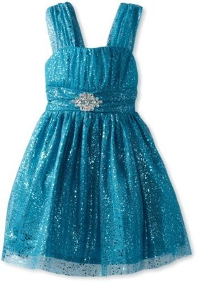 Amy Byer Girls 7-16 Tank Dress with Allover Sparkle