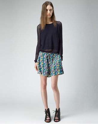 Band Of Outsiders crinkle chiffon shorts