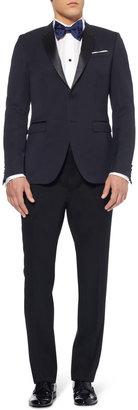 Burberry Navy Slim-Fit Wool Tuxedo Jacket