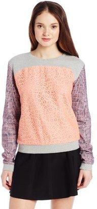 Rebecca Minkoff Women's Mccall Travel Tweed and Jacquard Sweatshirt