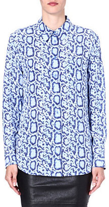 Equipment Reese snake-print silk shirt