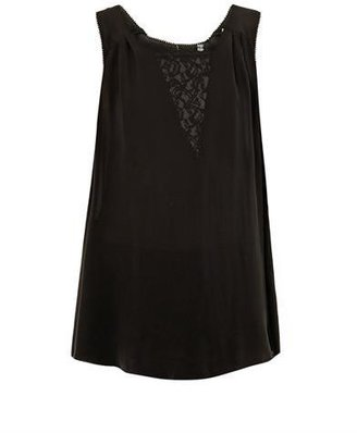 Rebecca Taylor Lace-insert sleeveless blouse