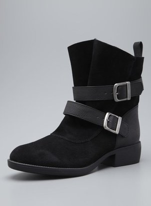 Mia Odettee Leather Moto Buckle Boot