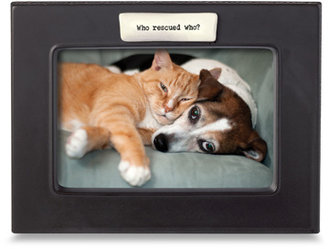 "Bed Bath & Beyond Who Rescued Who? 4"" x 6"" Frame"