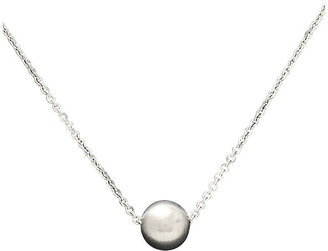 Breil Milano Necklace, Stainless Steel White Natural Pearl Circle Pendant