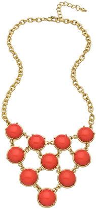 Carolee Coral Cabochon Bib Necklace