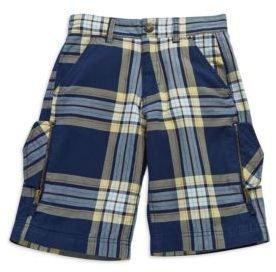 GUESS Boys 8-20 Plaid Shorts