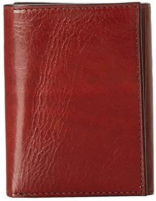 Bosca Old Leather Collection - Trifold Wallet (Cognac Leather) Bill-fold Wallet