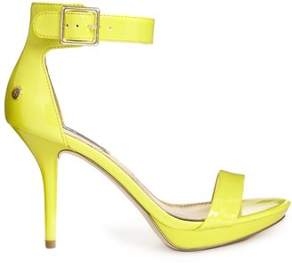 Blink Barely There Ankle Strap Heeled Sandals - Yellow