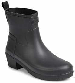 Hunter Low Heel Ankle Rain Boots