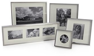 Crate & Barrel Brushed Silver 5x7 Wall Frame