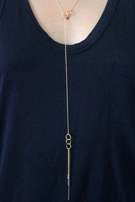 Gorjana Infinity II Lariat Necklace in Gold