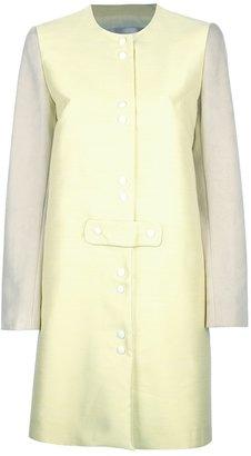 Yves Salomon bi-colour button coat