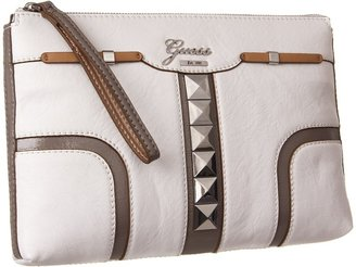 GUESS Gladis Clutch (White Multi) - Bags and Luggage